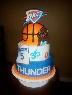 Oklahoma Thunder Birthday Cakes