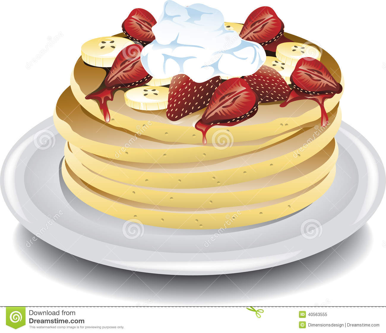 8 Photos of Pancakes With Bananas Strawberries And Whip Cream