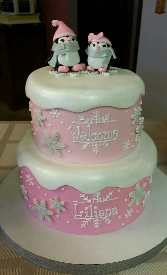Penguin Baby Shower Cakes for Girls Images