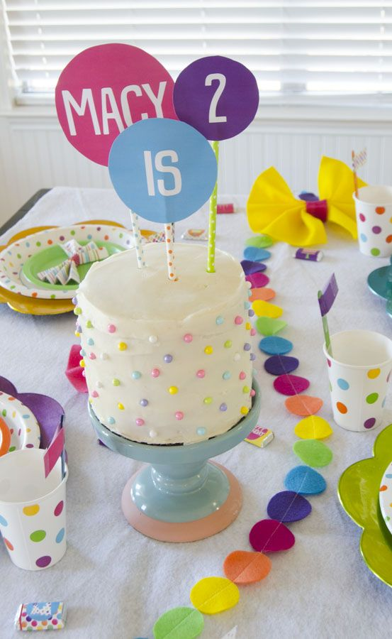 Polka Dot Birthday Party Ideas