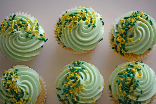 Pretty Green Cupcakes