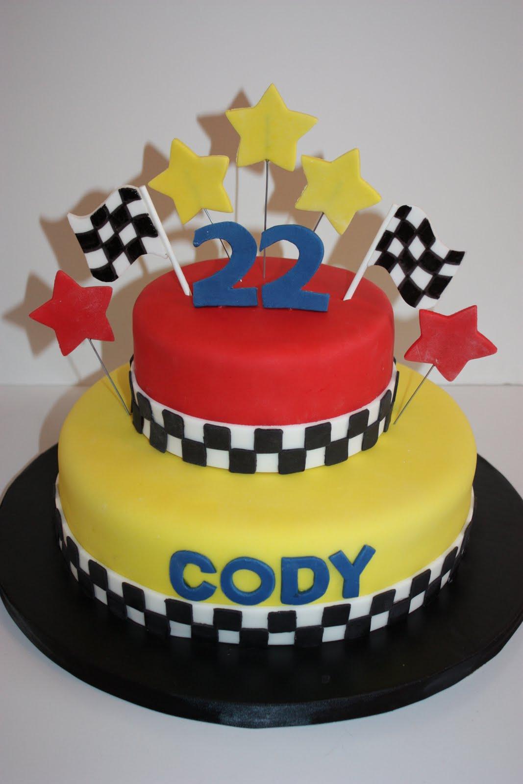 Race Car Birthday Cake Design