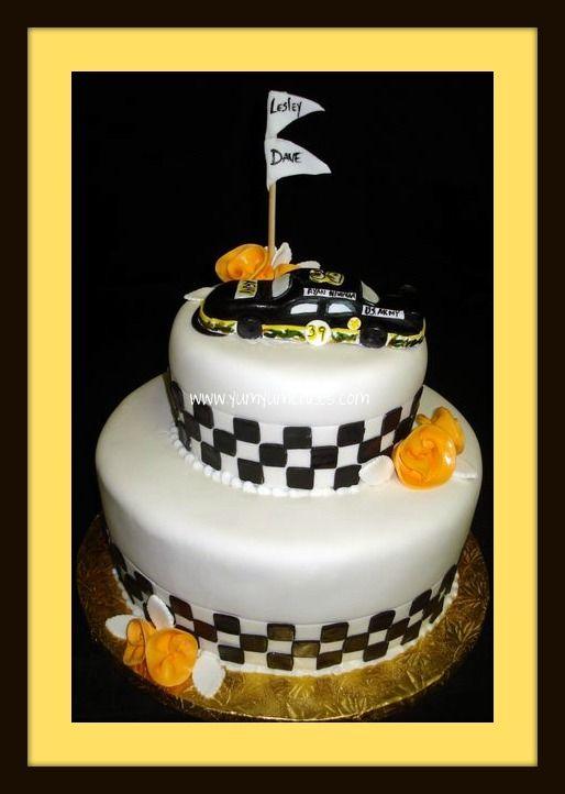 Race Car Theme Wedding Cake