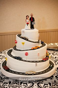 Race Car Wedding Cake Toppers