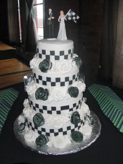 Race Car Wedding Cake