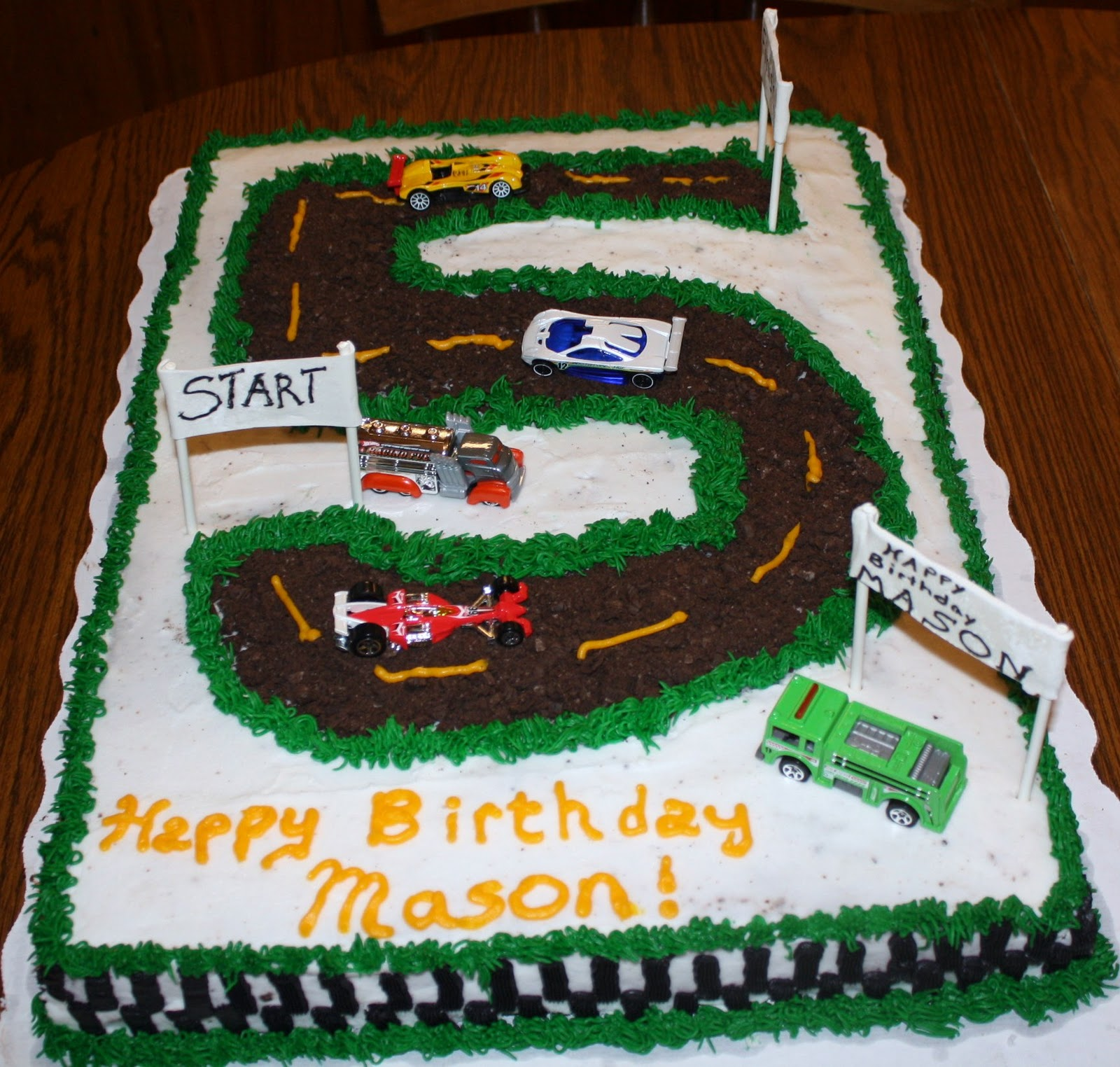 Race Track Birthday Cake Ideas