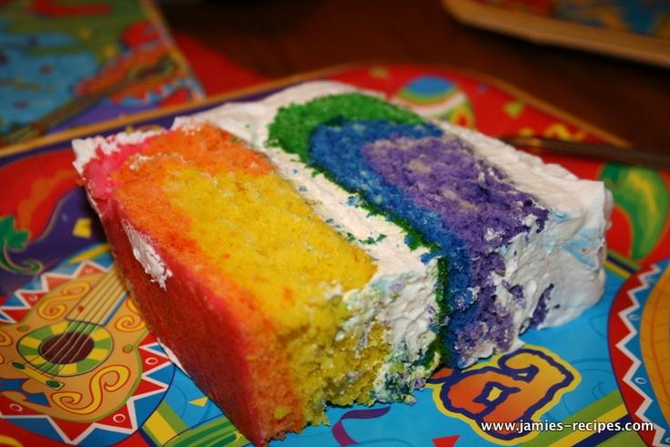 Rainbow Cake Recipe with Sprite