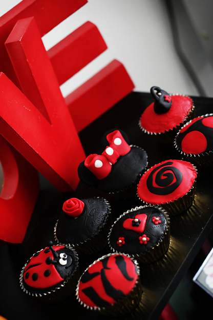 Red Birthday Cupcakes