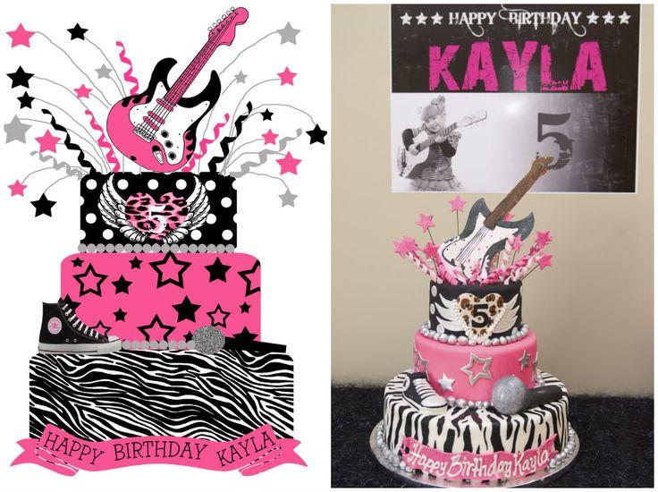Rock Star Diva Birthday Cake