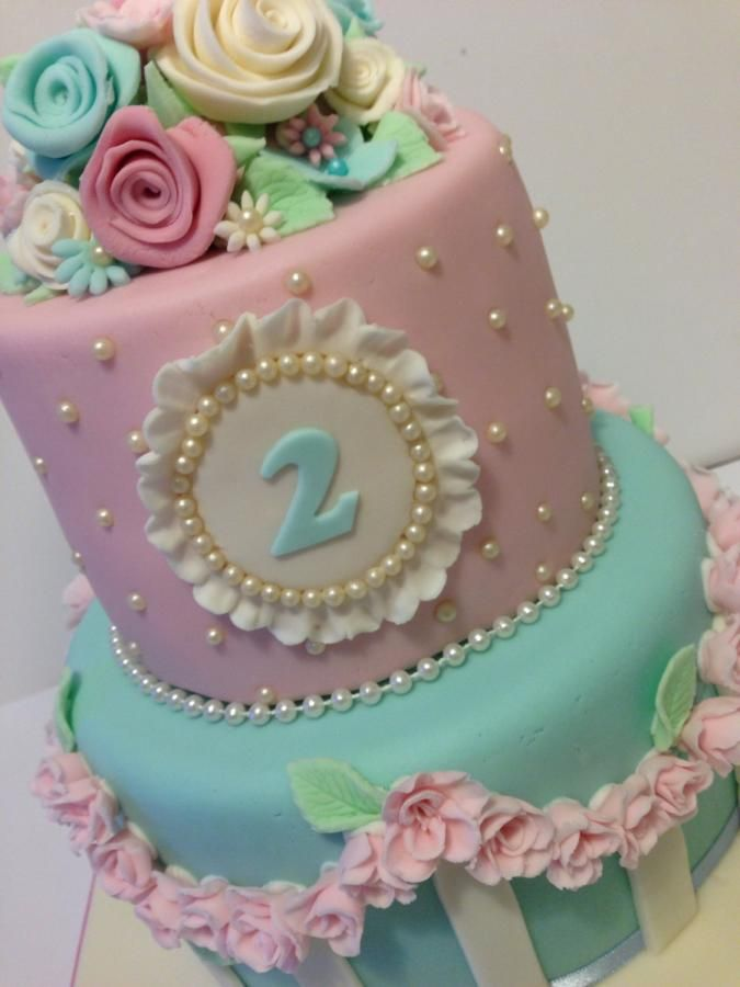 Shabby Chic Birthday Cake