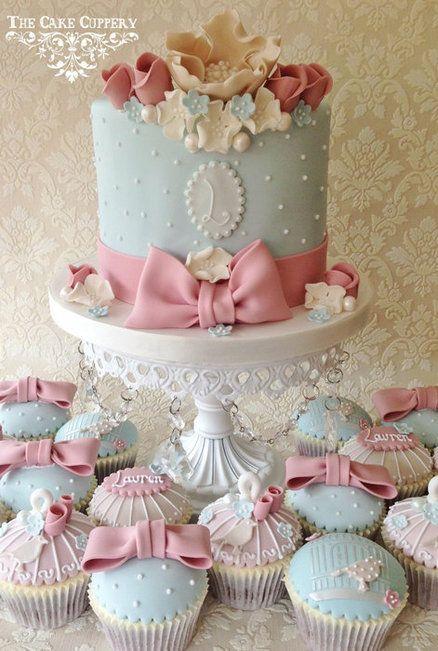 Shabby Chic Cupcake Cake