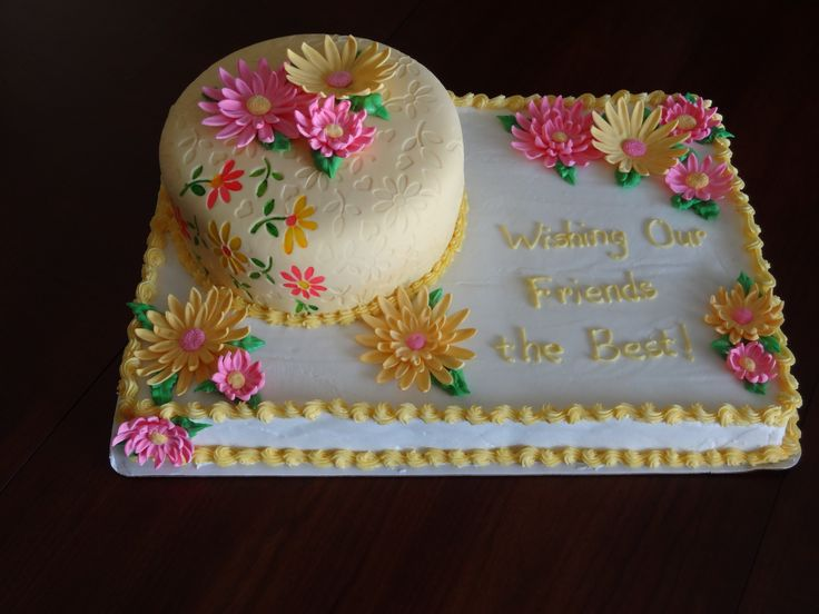 Sheet Cakes with Gerber Daisies