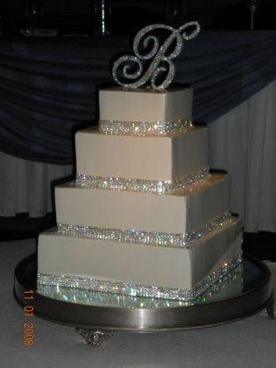 Silver Bling Wedding Cake
