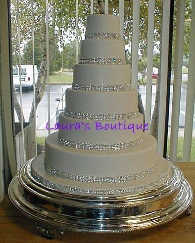 Simple Wedding Cake Bling