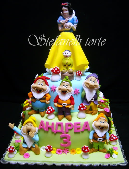 Snow White and Seven Dwarfs Cake
