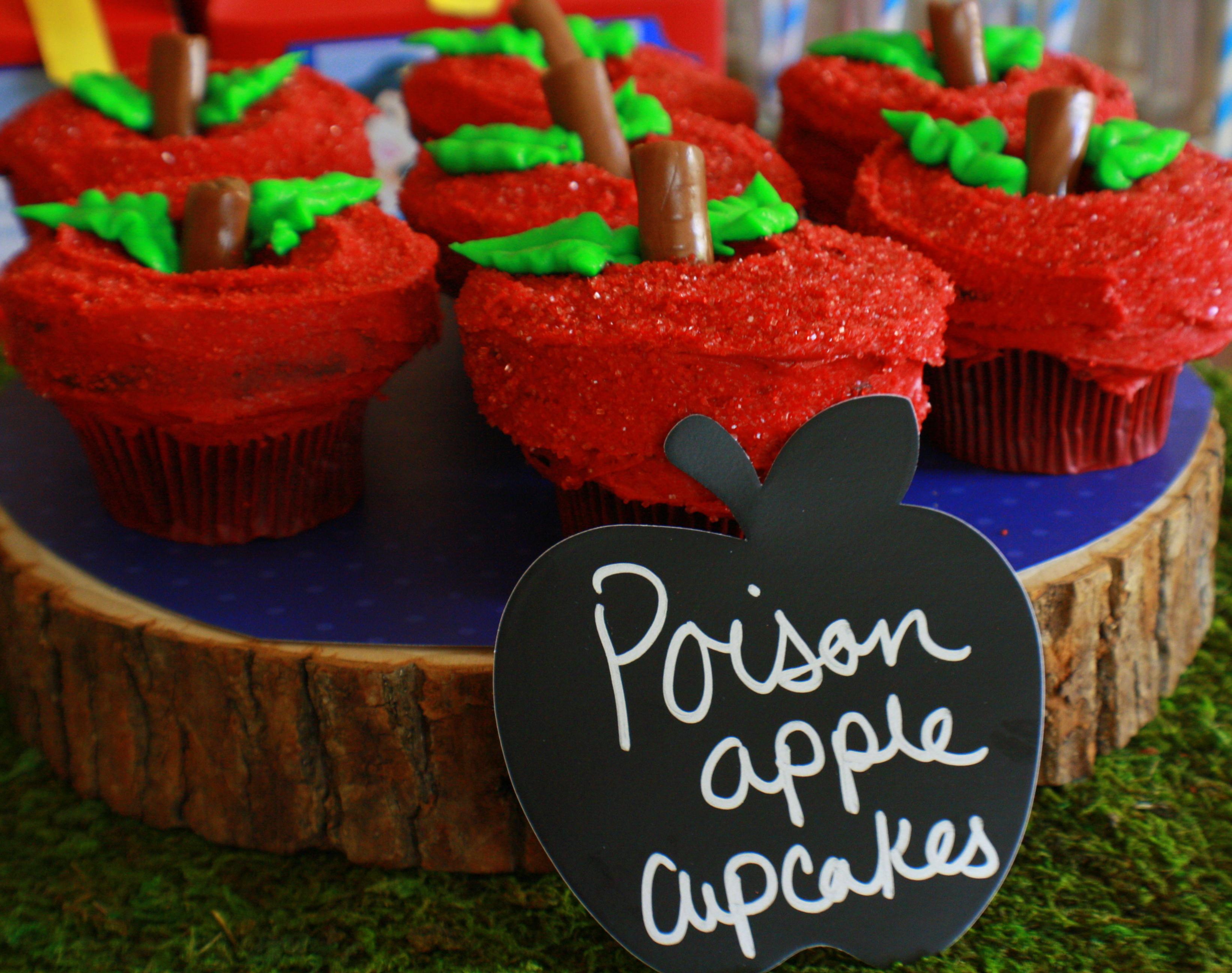 Snow White Poison Apple Cupcakes