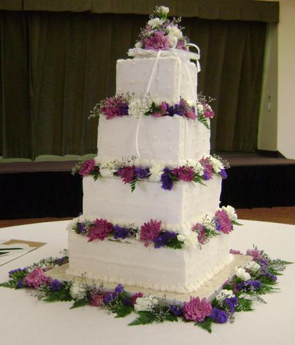 Square Stacked Wedding Cake