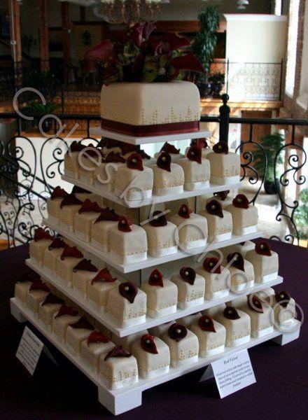 11 Photos of Square Cupcakes Wedding