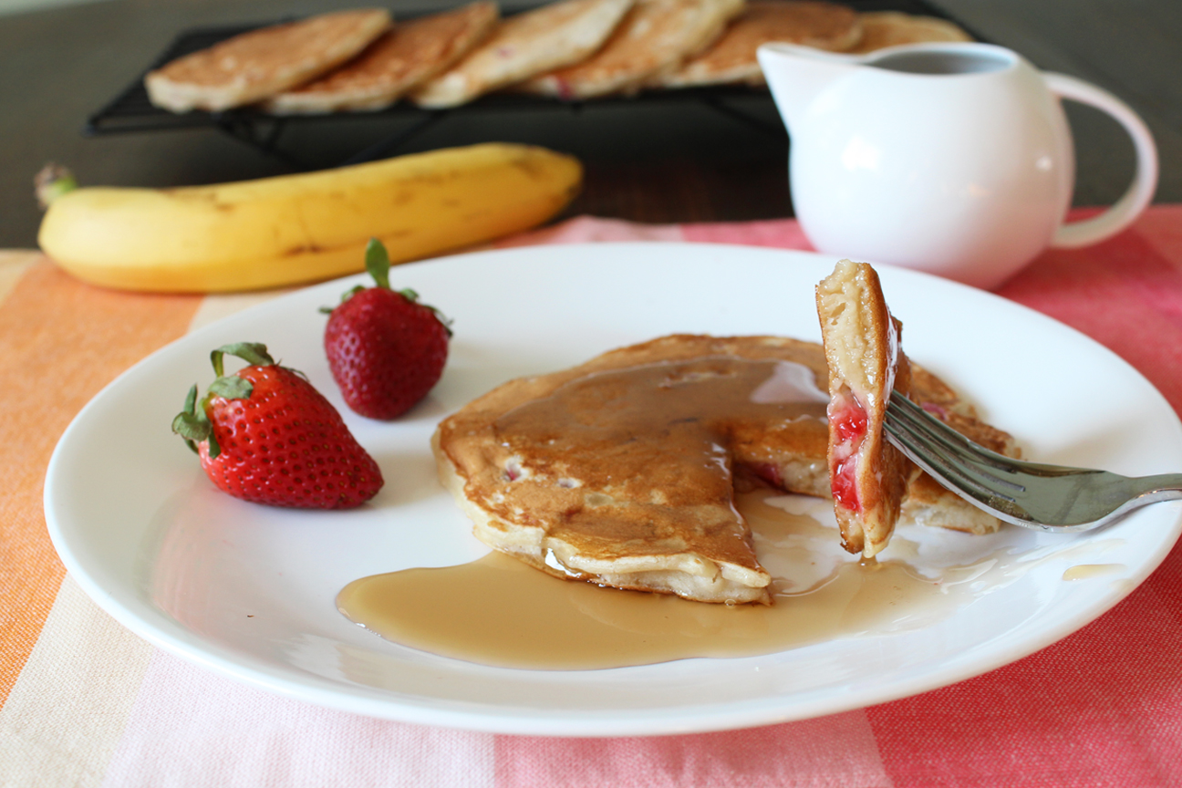 Strawberry and Banana Pancakes