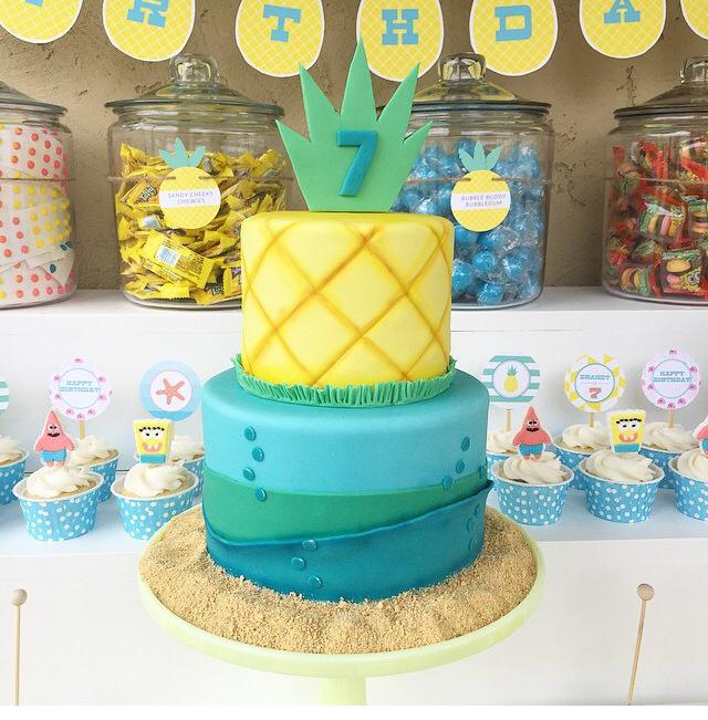 Summer Birthday Cake Pineapple
