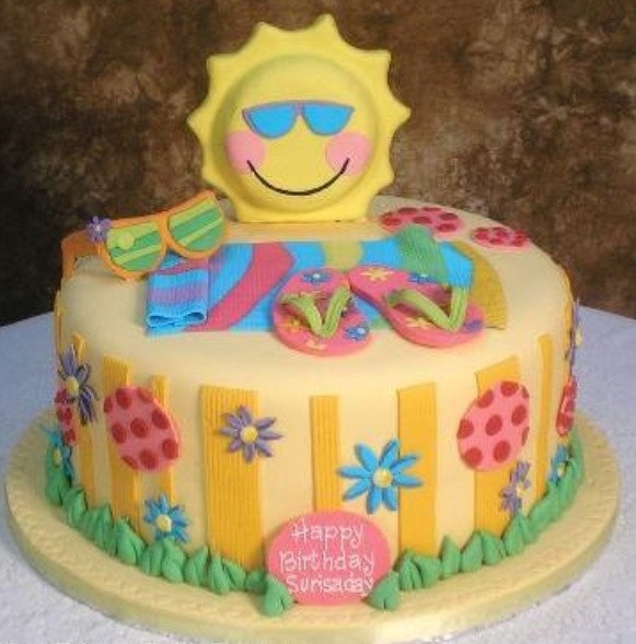 8 Photos of Fondant Cakes For Summer