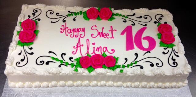 Sweet 16 Birthday Sheet Cakes
