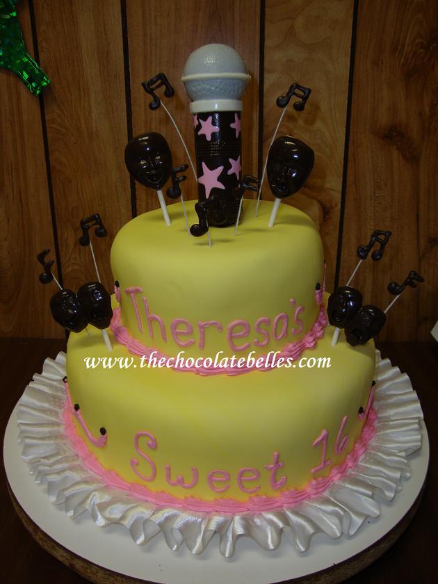 Sweet 16 Fondant Birthday Cake