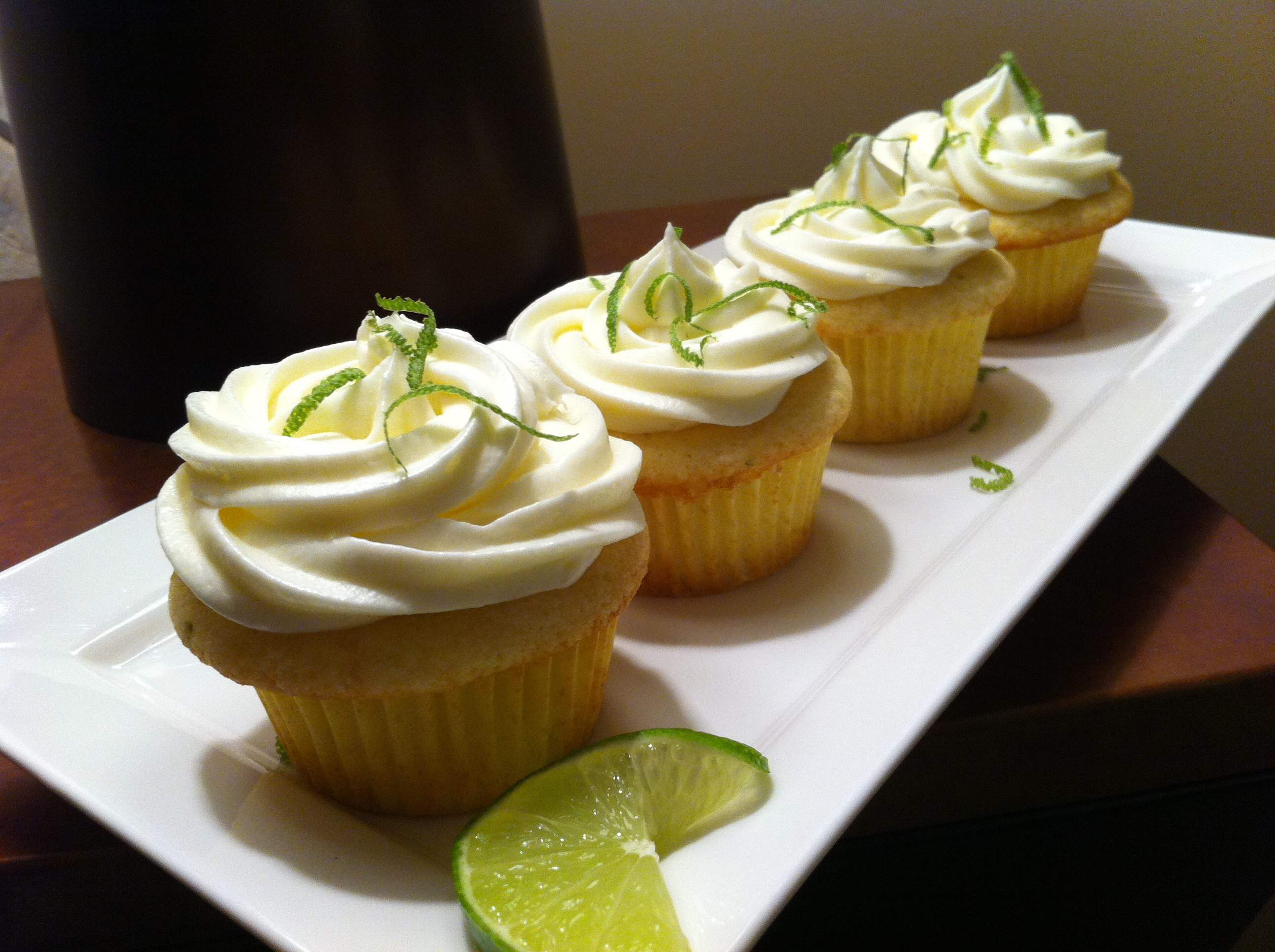 Tequila Lime Margarita Cupcakes with Frosting