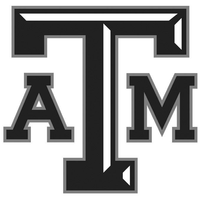 Texas A&M Logo Black and White