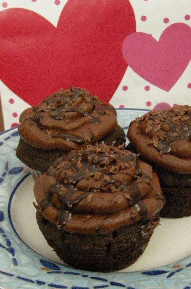Triple Chocolate Cupcakes Recipe