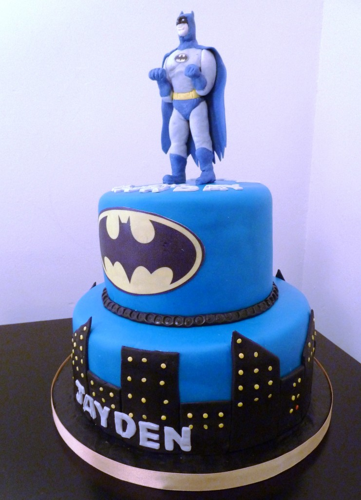 Two Tier Batman Birthday Cake