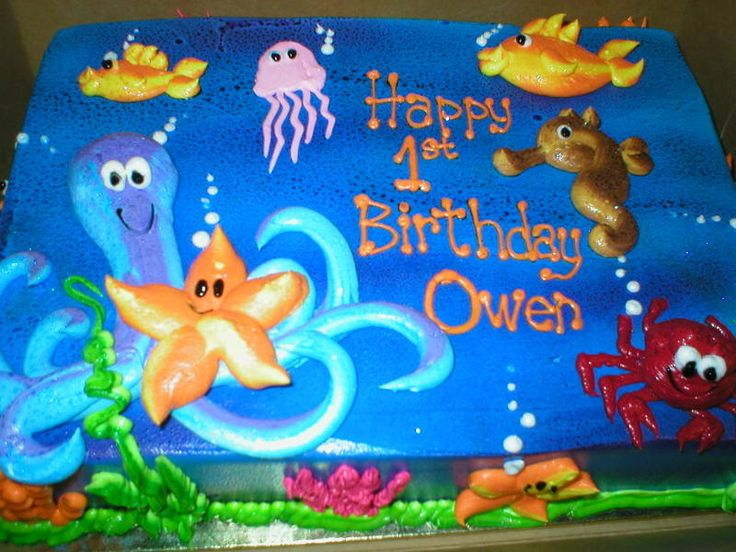 Under the Sea Birthday Sheet Cake