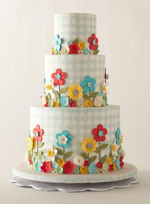 Unique Colorful Wedding Cake