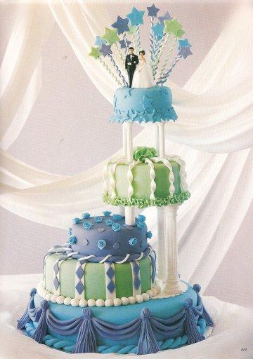 Unique Wedding Cakes Colors