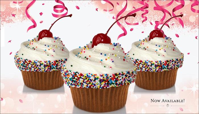 Vanilla Cupcakes with Rainbow Sprinkles