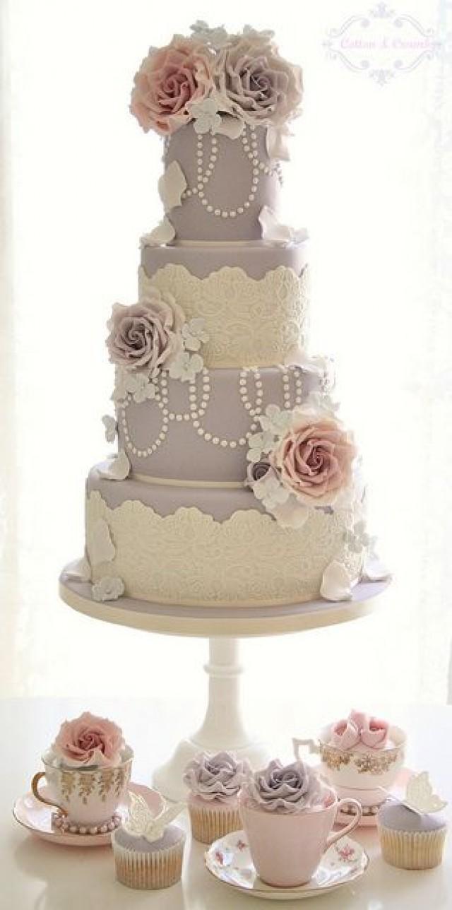 Vintage Pastel Wedding Cake