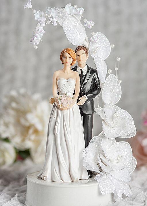 Vintage Wedding Bride and Groom Cake Topper