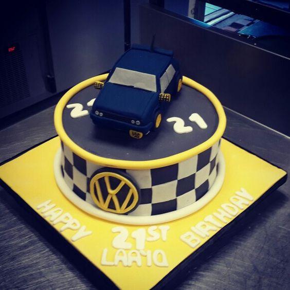 VW Golf Birthday Cake