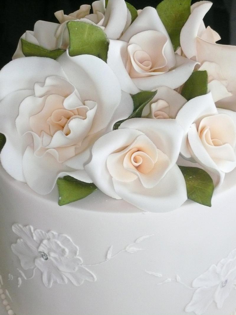 Wedding Cake Flower Decorations