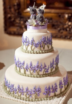Wedding Cake with Lavender and Sage