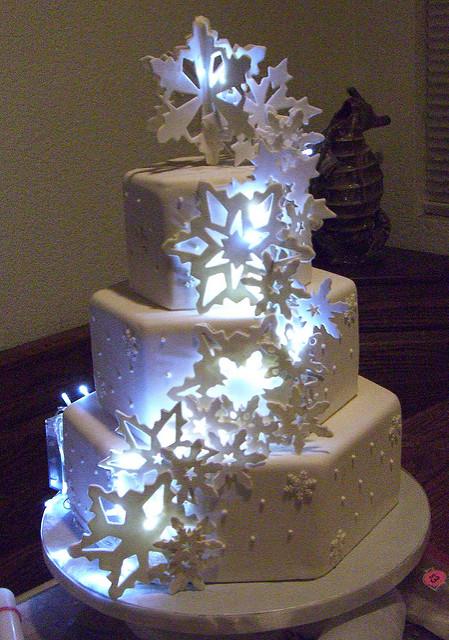 Wedding Cake with LED Lights