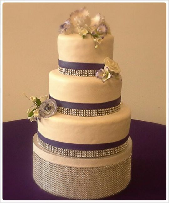 7 Photos of 3 Tier Wedding Cakes With Bling