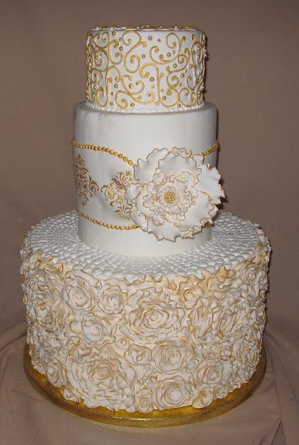 White Victorian Wedding Cake