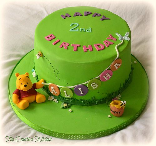 Winnie the Pooh with Birthday Cake