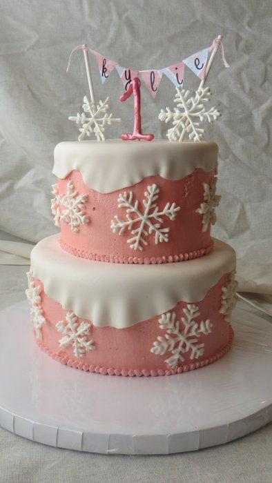Winter ONEderland Birthday Cake Ideas