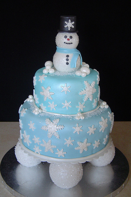 Winter Themed Birthday Cake