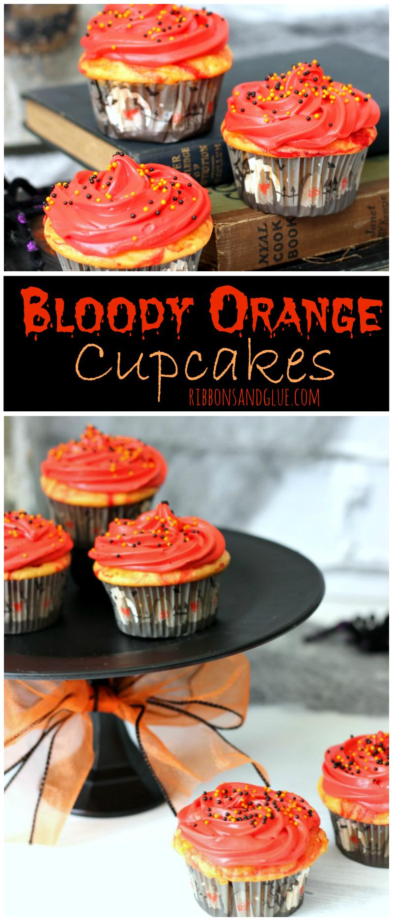 Yellow-Orange Halloween Cupcakes