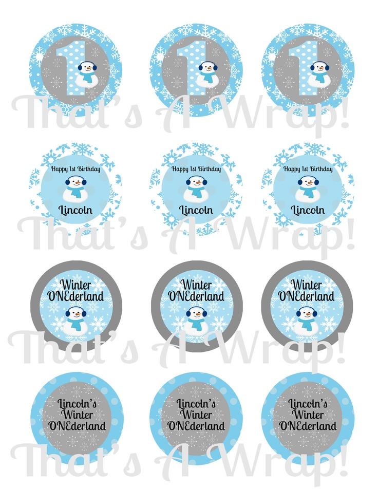 1st Birthday Boy Cupcake Toppers Printable