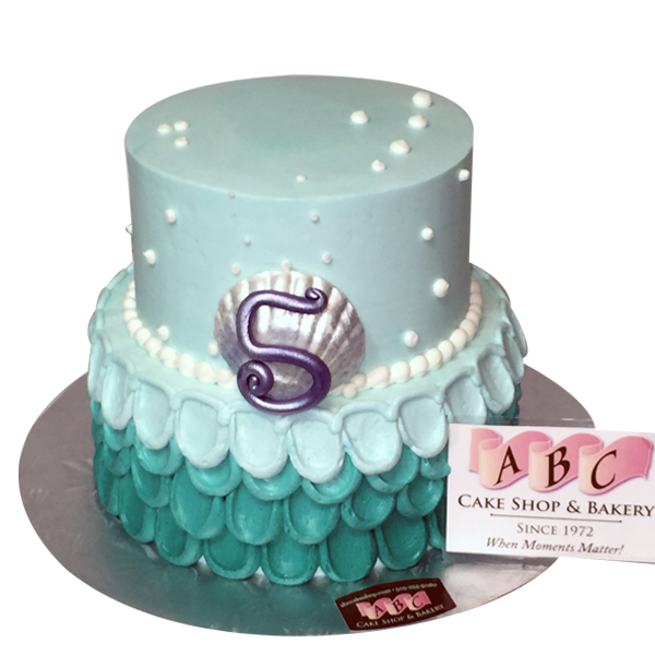 2 Tier Blue Birthday Cake