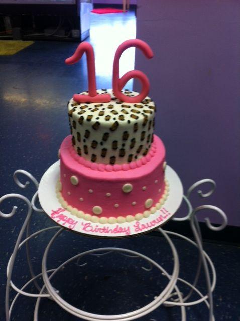 2 Tier Sweet 16 Birthday Cakes
